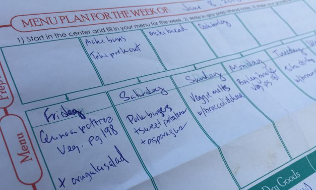 How to make a dinner meal plan that works