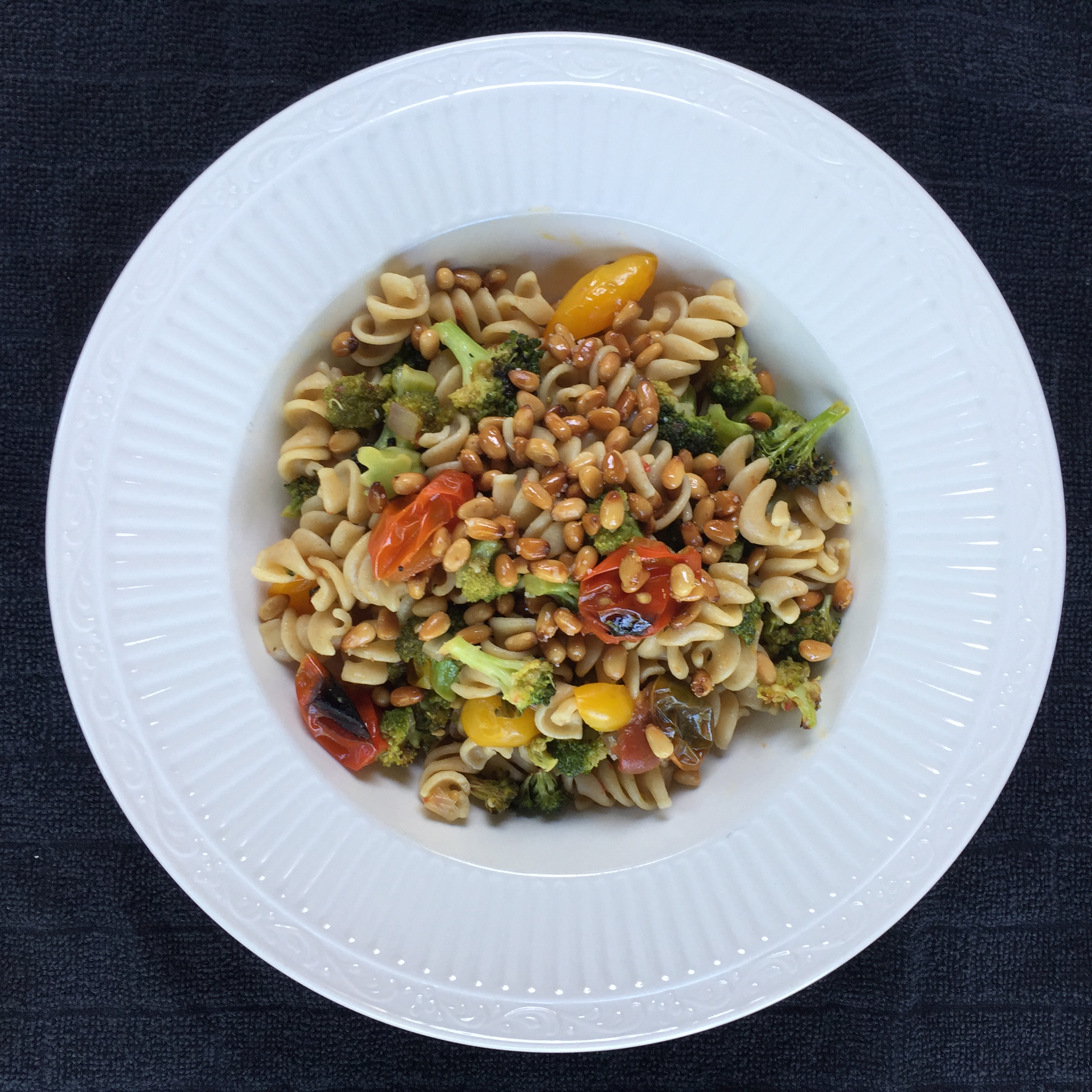 Menu Plan Results for Whole wheat pasta with roasted veggies and pine nuts