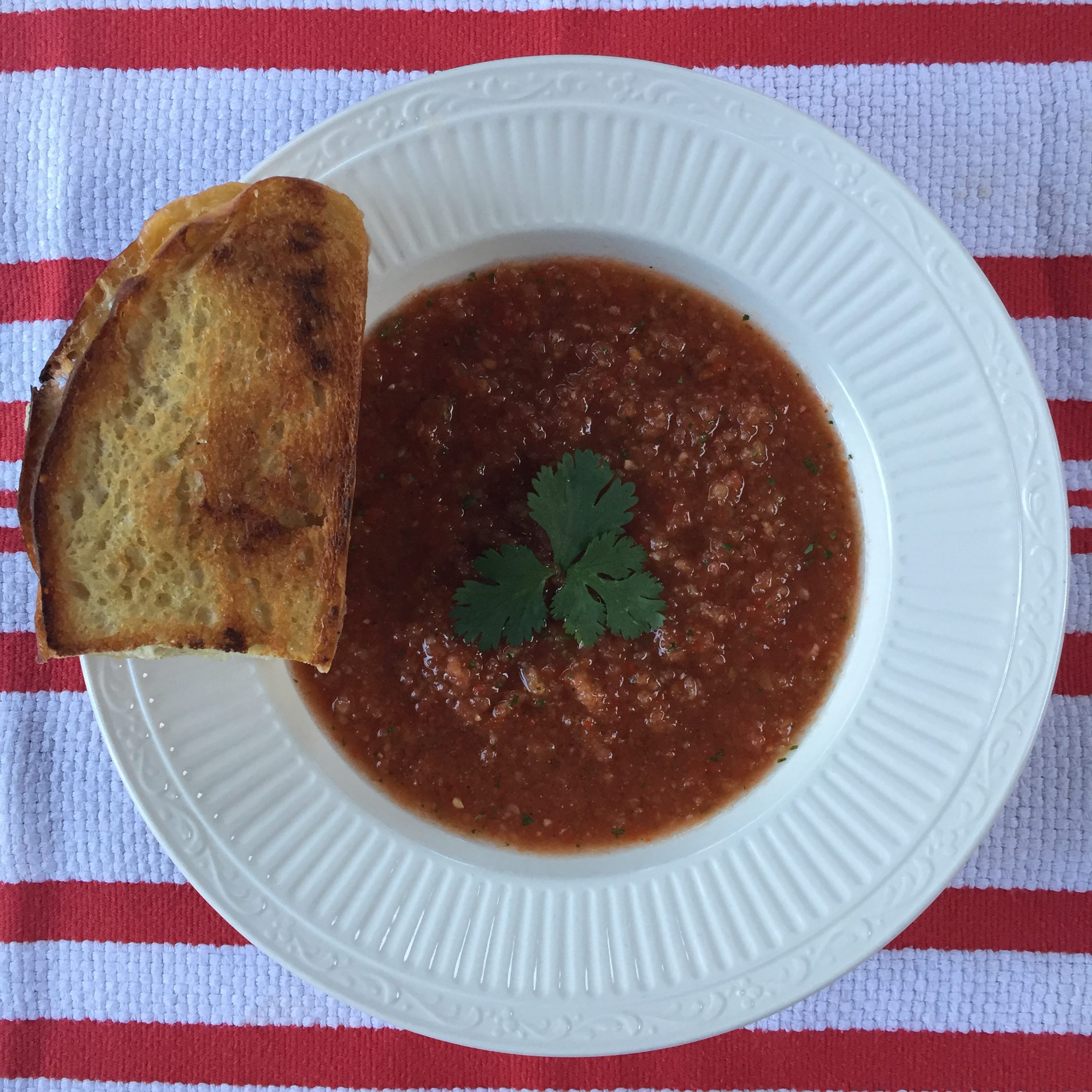 Menu plan results gazpacho with grilled cheese