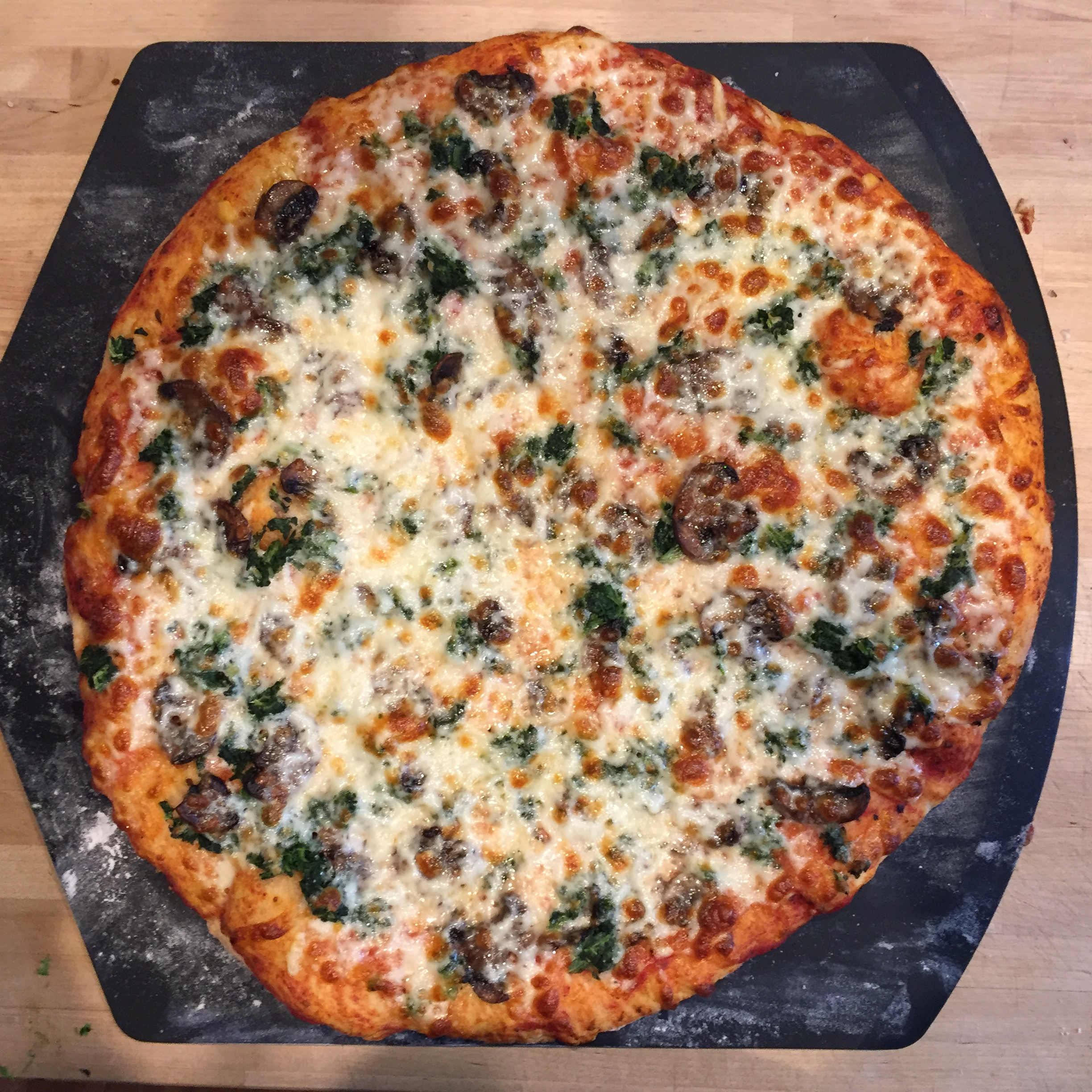 menu plan results homemade whole wheat pizza with spinach and mushrooms