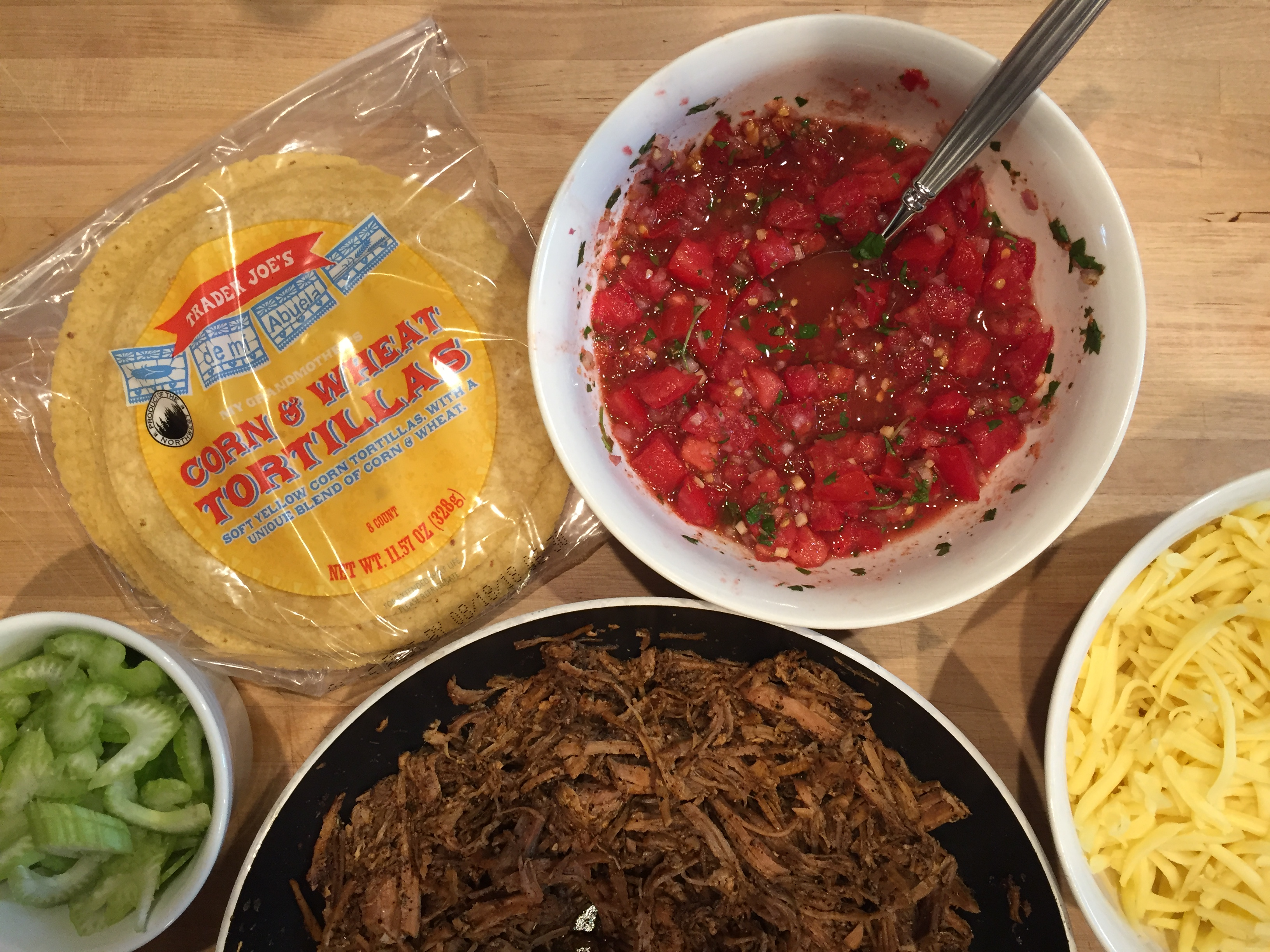 menu plan results taco tuesday with pork and homemade salsa
