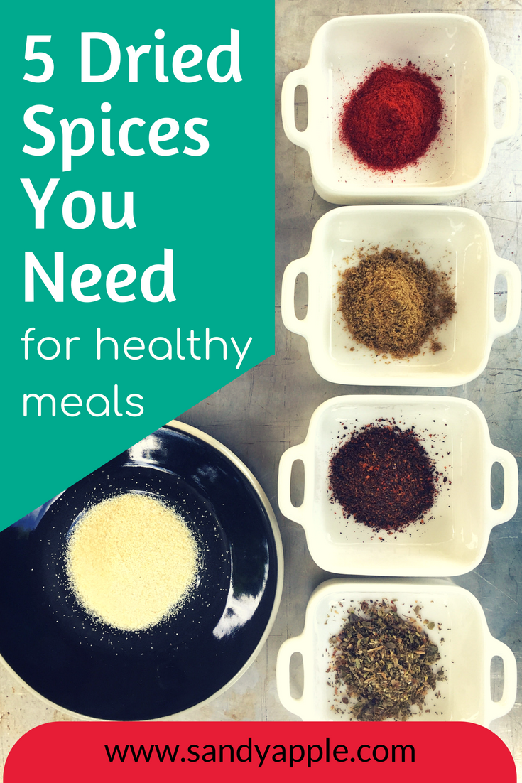 5 Dried Spices | Sandy Apple | simple nutrition in your kitchen