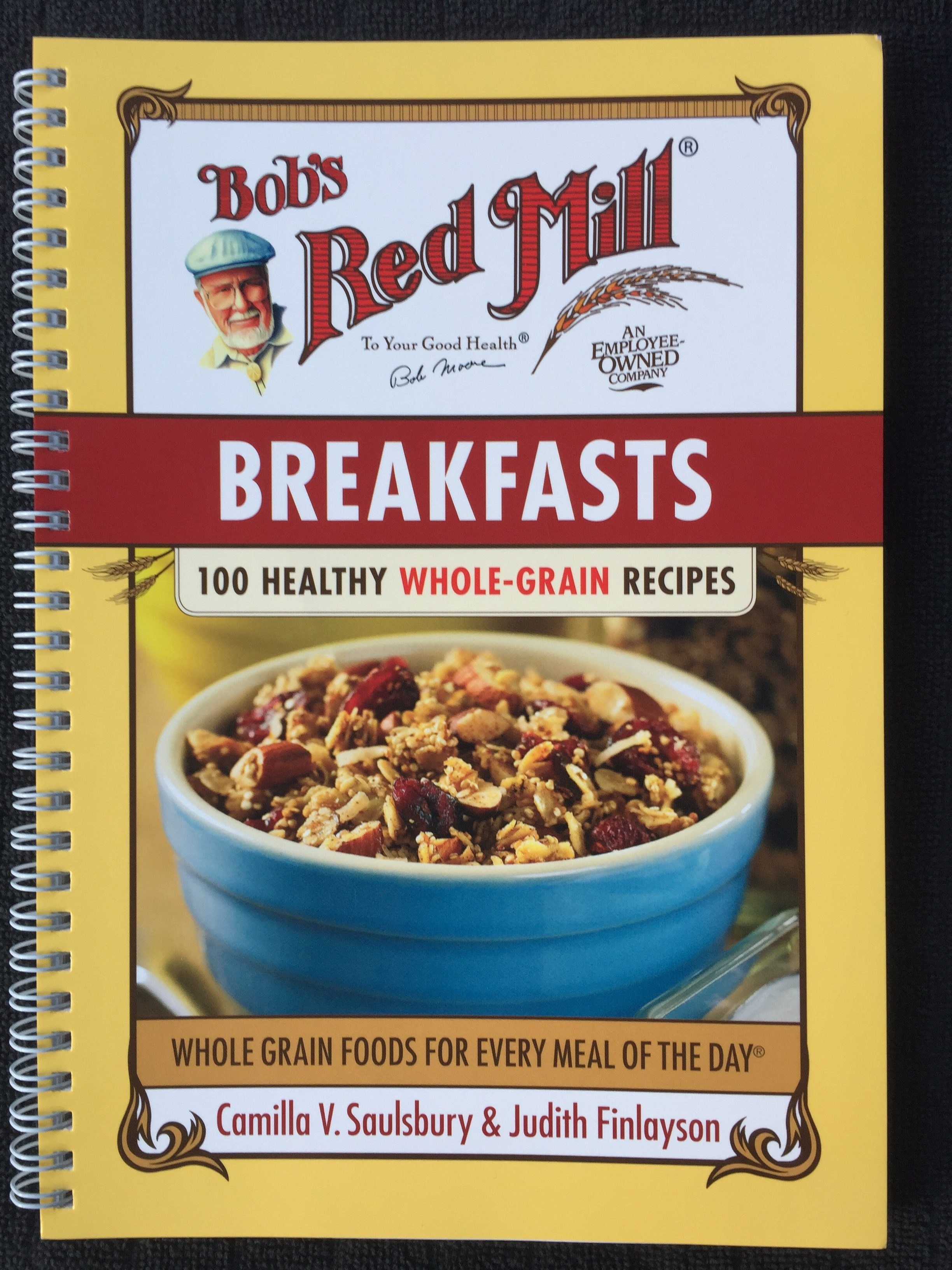 Bob's Red Mill cookbook for meal planning