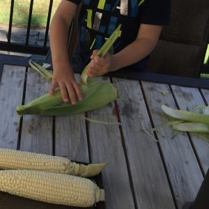 Kids Shuck Corn https://sandyapple.com